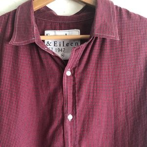 Frank & Eileen red black gingham check button down